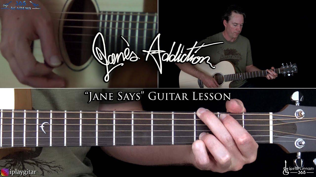 Jane Says Guitar Lesson   Jane's Addiction