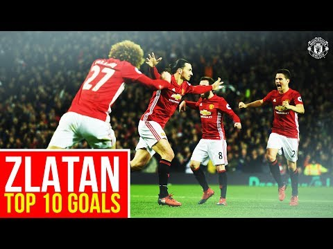 Zlatan Ibrahimovic | Top 10 Goals for Manchester United