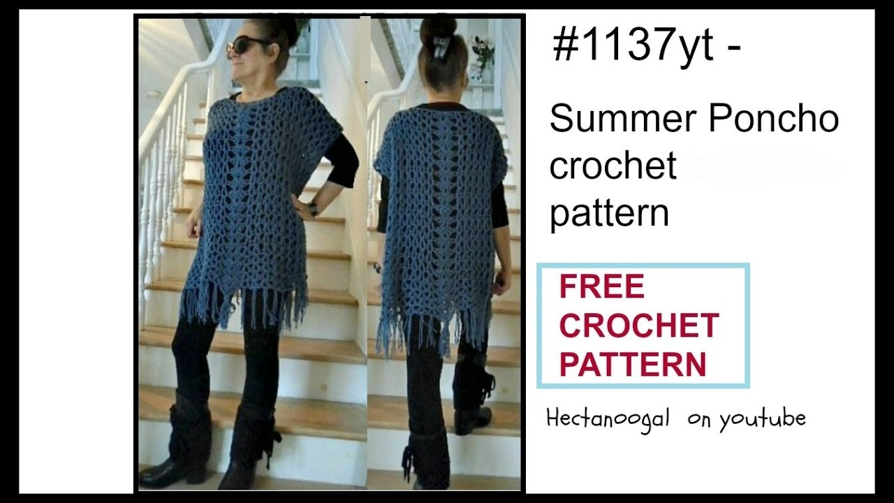 Crochet poncho free crochet pattern summer poncho sweater wrap crochet poncho free crochet pattern summer poncho sweater wrap patt 1137 sweaters tops bankloansurffo Image collections