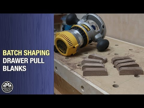 Batch Shaping Blanks for Drawer Pulls // Woodworking