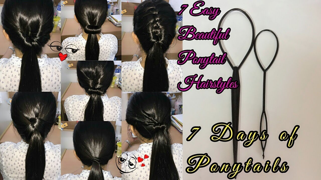 7 Easy Ponytail Hairstyles 7 Days Of Ponytails Made With Styling Loops Tool