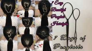 7 Easy Ponytail Hairstyles | 7 Days of Ponytails | Made with Styling Loops Tool