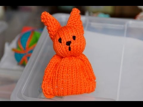 Knitting Easter Bunnies : How to knit super easy easter bunny for beginners youtube