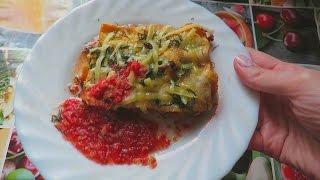 Лазанья с фаршем  Классический рецепт с соусом