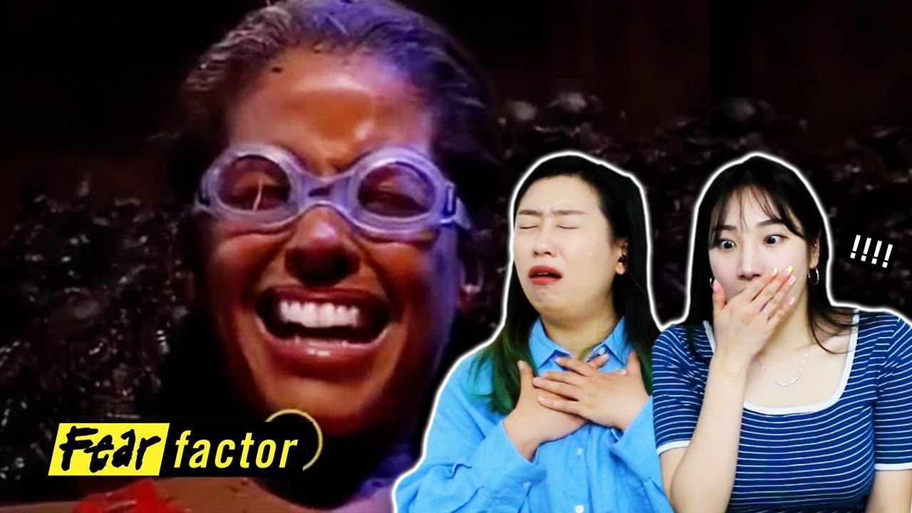 Korean Girls React to 'FEAR FACTOR'