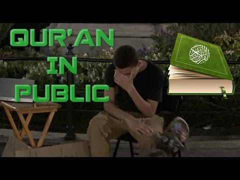 Strangers listen to Quran in public (Social Experiment)