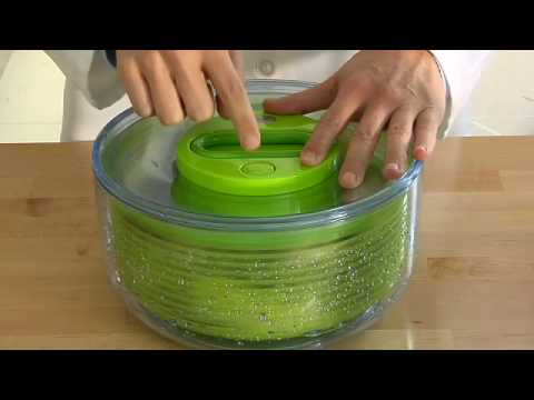 Zyliss Easy Spin Salad Spinner Demo Video
