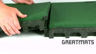 Greatmats 2.75 Inch Thick Playground Flooring Tiles