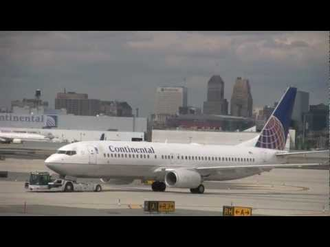 Continental Airlines Boeing 737-800 Flight from Newark to Charlotte (HD)