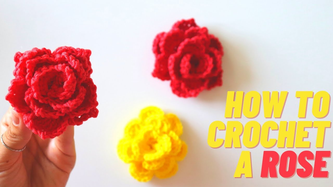 How To Crochet A Rose / Three Different Style