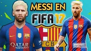 messi en fifa 17 barcelona vs real madrid 2016 2017 fifa 16 gameplay parche