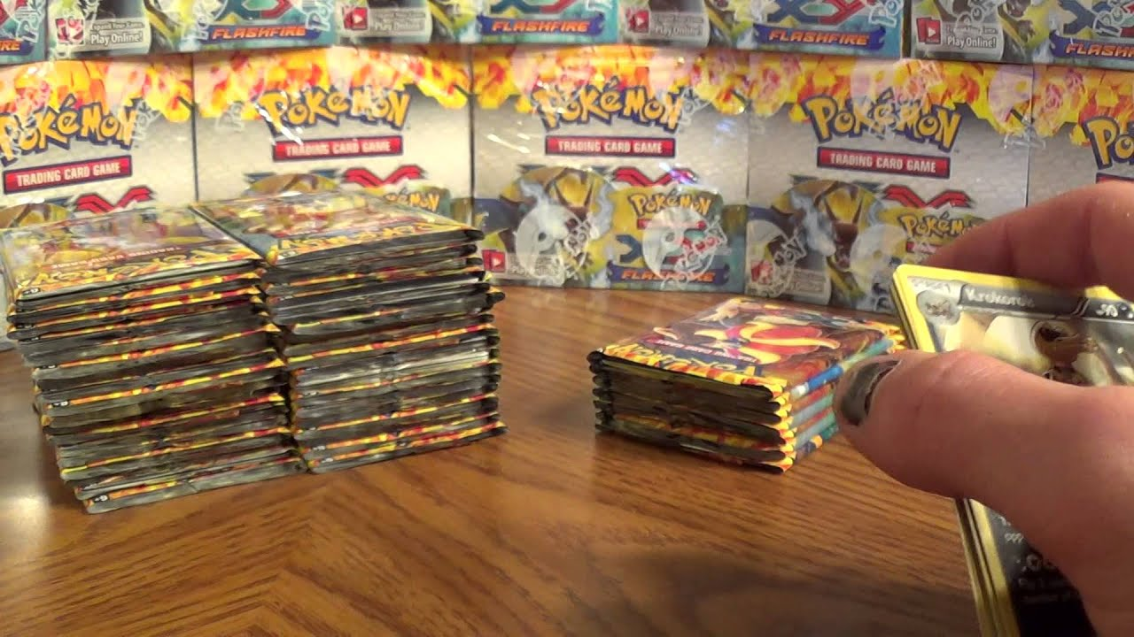 72 booster packs mega charizard ex x and y flash fire youtube