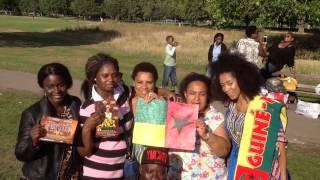 MANIFESTAÇAO DE COMUNIDADE GUINEENSE EM LONDRES/UK 2015