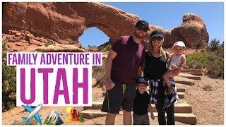 UTAH ADVENTURE TRAVEL VLOG ✈️🏔🏜 | TIPS FOR TRAVELING WITH KIDS | Brianna K :)