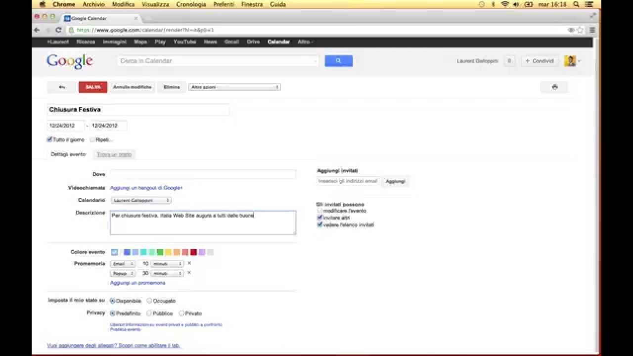 Calendario Per Sito Web.Aggiornare Il Calendario Del Sito Web Con Google Calendar