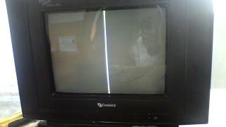 Conserto da Tv Century c1461 Us lista no meio da tela