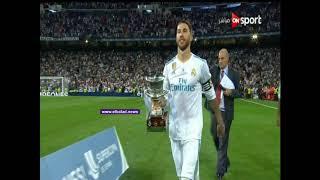 شاهد.. احتفال لاعبي ريال مدريد بكأس السوبر الإسباني