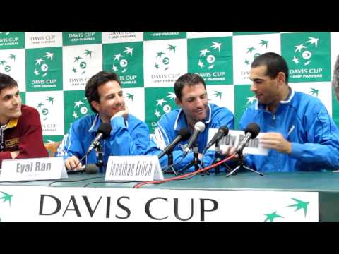 Israel Davis Cup press conference with Andy Ram, Jonathan Erlich and Eyal Ran part 2