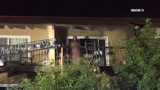 Firefighters Rescue Woman From Fourth-Floor Balcony Amid 2nd Alarm Fire In Newport Beach