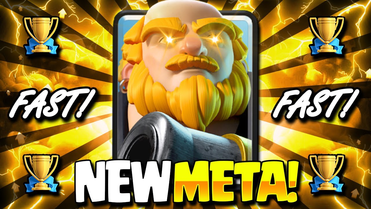 NEW META FASTEST 2.9 ROYAL GIANT CYCLE DESTROYS EVERYTHING!! WOW! - Clash Royale Royal Giant Deck