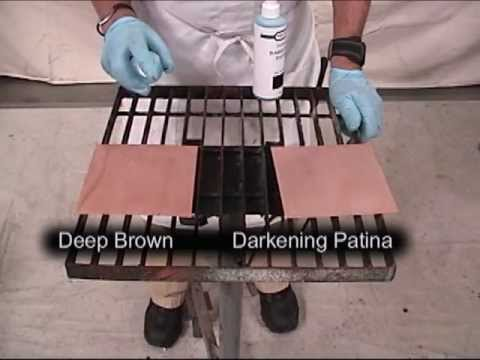 deep brown and darkening patina youtube. Black Bedroom Furniture Sets. Home Design Ideas