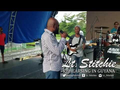 Lt. Stitchie Rehearsing in Guyana (@kingstitchie)