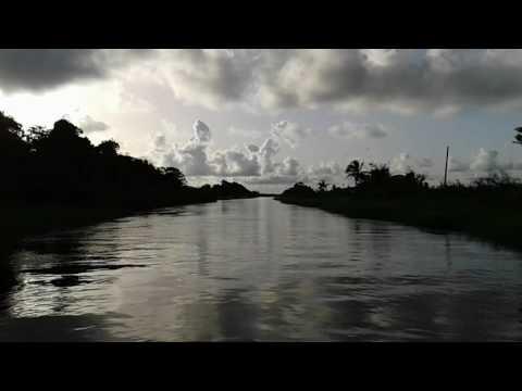 Guyana Boat Trip Mahaicony Creek Sunset