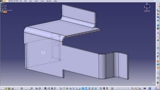 Catia V5 Tutorial|generative Sheetmetal Wb|creating Flange|basic|trim Support And Flange Plane