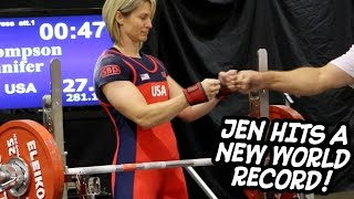 Powerlifting World Champion - Jennifer Thompson