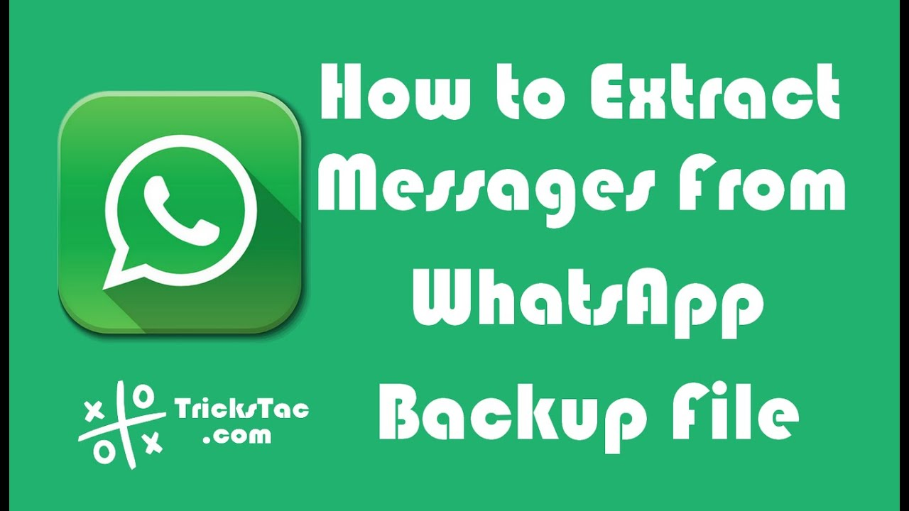 How to Extract Messages From WhatsApp Backup File on Android or iPhone  Using WhatsApp Viewer