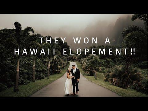 Oahu Hawaii Destination Wedding | Sunflower Field Elopement