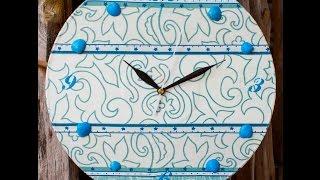 27 часы из пластинки декупаж часы из виниловых пластинок мастер класс идеи