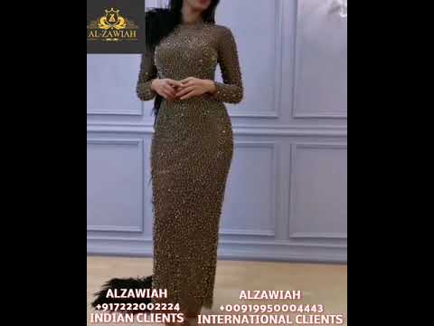 Alzawiah Designer Party Wear With A Beautiful Fitted Haute Couture Gowns For USA Clients