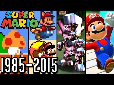 Super Mario ALL POWER-UPS 1985-2015 (Wii U, 3DS, N64, SNES)