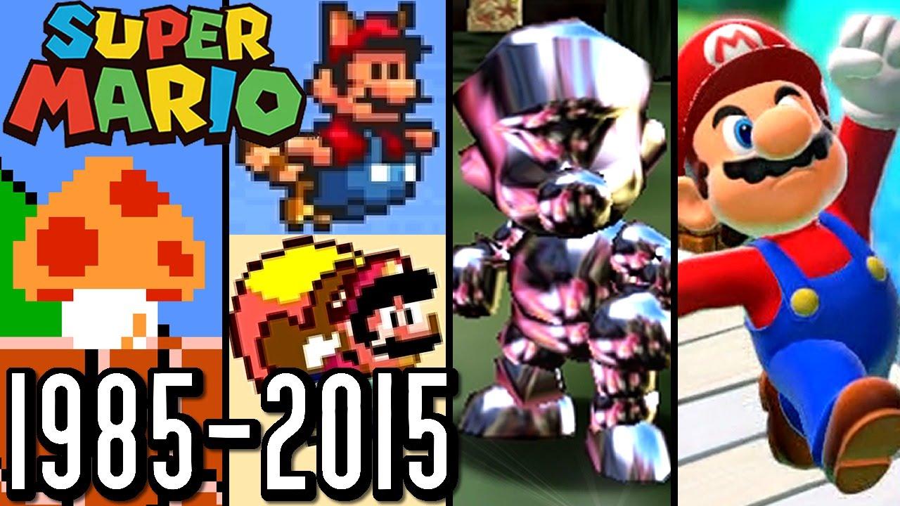 Super Mario ALL POWER-UPS 1985-2015 (Wii U, 3DS, N64, SNES