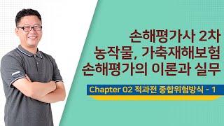 손해평가사 2차 2과목 Chapter 02 적과전 종합위험방식 - 1 - 문주화 교수님