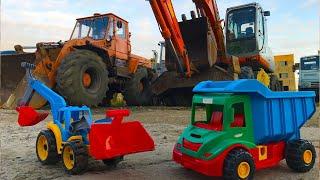 синий трактор, грузовичек на прогулке, сборник мультиков