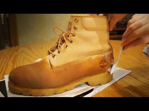 How do you clean your timberland boots