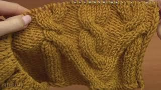 Вязание спицами шапочки Урок 67 часть 2 из 2