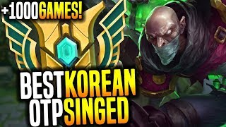 The Legendary Best Singed in Korea Destroying in Challenger! - OTP Challenger Singed with +1000Games