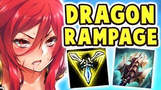 LEGENDARY TRIPLE CLEAVE DRAGON RAMPAGE | INSANE SHYVANA JUNGLE | WHAT IS THIS DAMAGE ?? Nightblue3