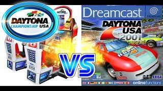 Daytona Championship USA VS Daytona USA 2001 (Dinosaur Canyon)