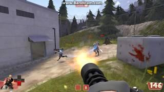 Team Fortress2-игра с ботами, захват контрольных точек.