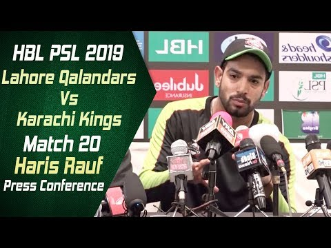 HBL PSL 4 | Match 20 Lahore Qalandars Vs Karachi Kings Post Match Press Conference | Haris Rauf