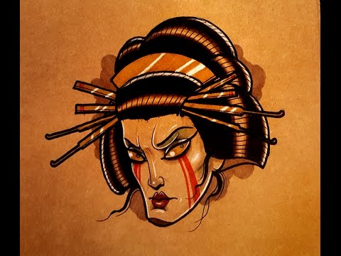 How to Draw a Geisha