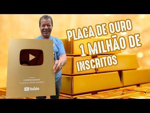 PLACA DE 1 MILHÃO DE INSCRITOS DO YOUTUBE I Churrasqueadas