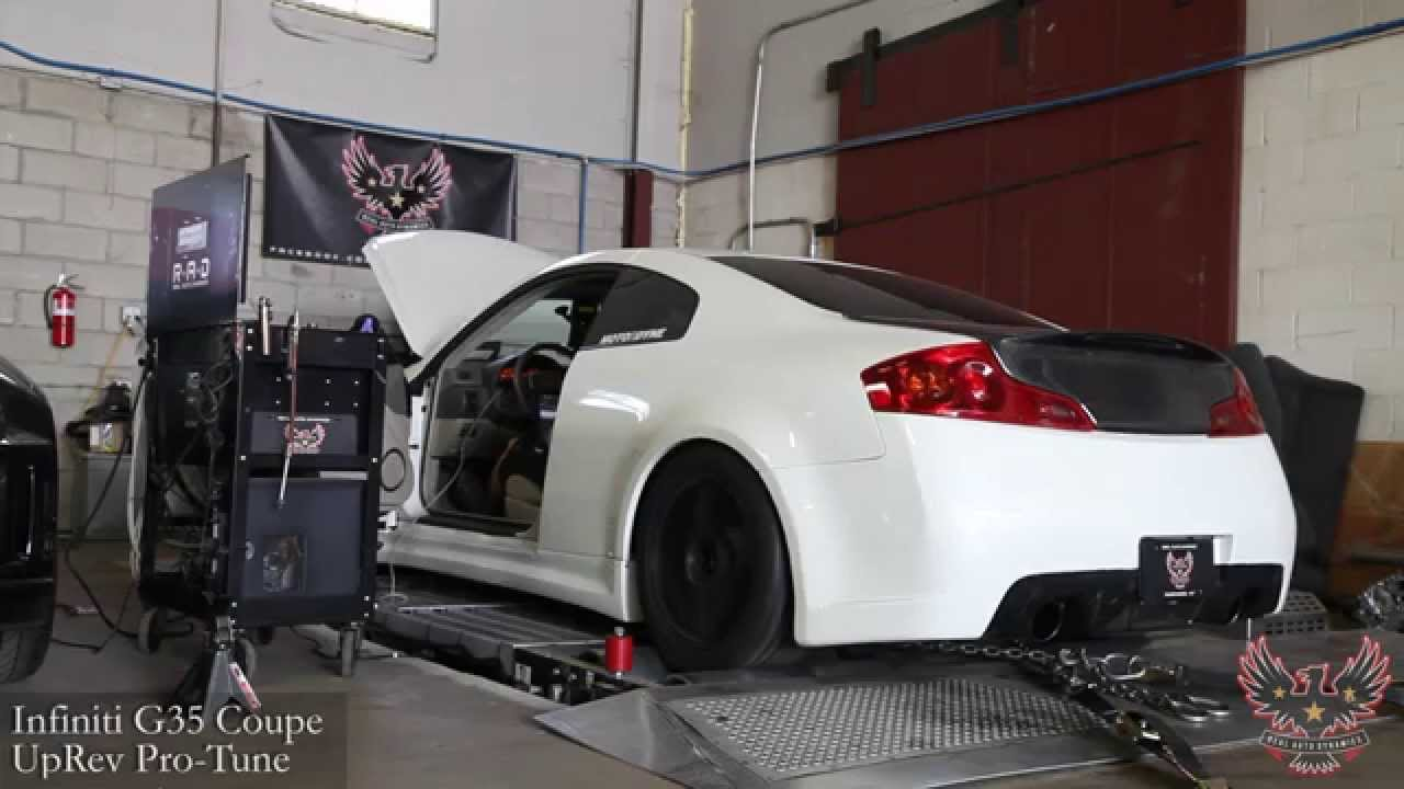 Infiniti G35 6mt Coupe Motordyne Tdx2 Art Pipes Uprev Dyno Tune