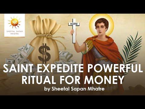 Saint Expedite Powerful ritual for Money