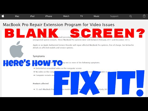 Retina Macbook blank screen REPAIR GUIDE
