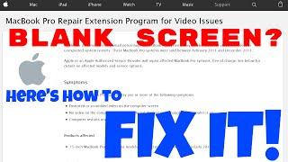 Retina Macbook blank screen REPAIR GUIDE
